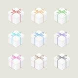 Actuales cajas con los arcos de la guita libre illustration