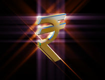 Actualité de symbole de la roupie indienne Photo libre de droits