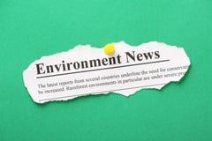 Actualités d'environnement Photographie stock libre de droits