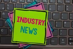 Actualités d'industrie d'écriture des textes d'écriture Keybo commercial technique de rappels de Papers de constructeur de fabric photo stock