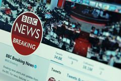 Actualités de la BBC sur le Twitter photo libre de droits