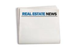 Actualités de Real Estate Photographie stock libre de droits