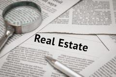 Actualités de Real Estate Photo stock