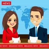 Actualités des présentateurs TV Images stock