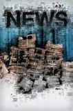 Actualités et journalisme, illustration conceptuelle Photographie stock libre de droits