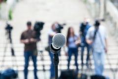 Actualités ou conférence de presse image libre de droits