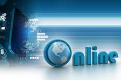 Actualités par un concept d'écran d'ordinateur portable pour des actualités en ligne Image libre de droits