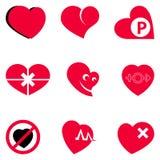 Actualités rouges de symbole d'icône d'amour Images stock