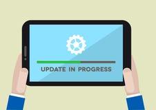 Actualización de la tableta Fotos de archivo libres de regalías