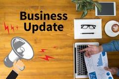 Actualización del negocio stock de ilustración