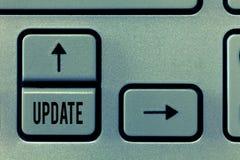 ACTUALIZACIÓN del texto de la escritura El significar del concepto actualizado hace algo una versión más reciente más moderna o m imagenes de archivo