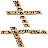 Actualizaciones de estatus del informe del feedback del crucigrama libre illustration