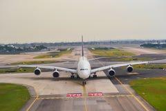 Actualmente, el aeropuerto tenía tres terminales operativos Foto de archivo libre de regalías