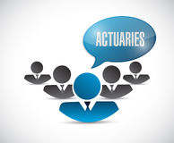 Actuaries message illustration design Royalty Free Stock Photography
