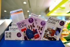 Actuellement, l'aéroport a eu trois terminaux opérationnels Images stock