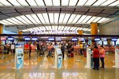 Actuellement, l'aéroport a eu trois terminaux opérationnels Image stock