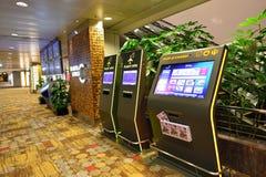 Actuellement, l'aéroport a eu trois terminaux opérationnels Photos stock