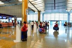 Actuellement, l'aéroport a eu trois terminaux opérationnels Photo stock