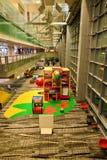 Actuellement, l'aéroport a eu trois terminaux opérationnels Photographie stock