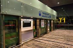 Actuellement, l'aéroport a eu trois terminaux opérationnels Photographie stock libre de droits