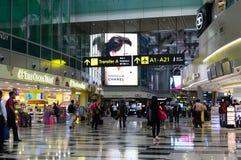 Actuellement, l'aéroport a eu trois terminaux opérationnels Singapour Photos stock