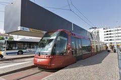 Actv-Tram auf Piazzale Rom in Venedig, Italien Lizenzfreies Stockfoto