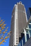 Acty Shiodome, Tokyo. TOKYO, JAPAN - DECEMBER 2, 2016: Acty Shiodome residential building in Tokyo. It was built by Takenaka Corporation, Sumitomo Mitsui Stock Photography