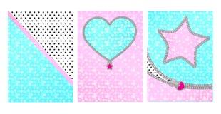 Acuñe el fondo rosado del color con el marco lindo El contexto para los niños va de fiesta la invitación en estilo de la sorpresa ilustración del vector