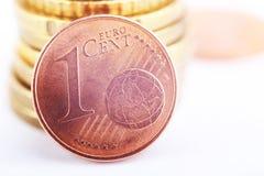 Acuñe un centavo euro Imagen de archivo libre de regalías