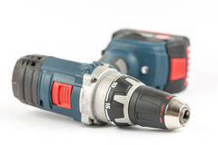 Acu battery drill tool isolated over white background.  Royalty Free Stock Images