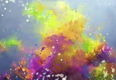 Acuarela abstracta brillante libre illustration