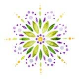 Acuarela abstracta de la flor Stock de ilustración