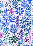 Acuarela abstracta floral inconsútil decorativa del fondo Foto de archivo libre de regalías