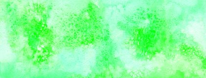 Acuarela abstracta verde para la bandera y el fondo fotografía de archivo libre de regalías