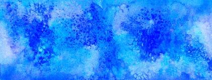 Acuarela abstracta violeta y azul para el fondo fotos de archivo