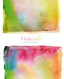 Acuarela abstracta y fondo pintado acrílico Foto de archivo libre de regalías