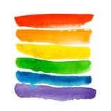 Acuarela aislada arco iris Fotos de archivo libres de regalías