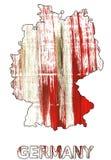 Acuarela anaranjada internacional del esquema del mapa de Alemania stock de ilustración