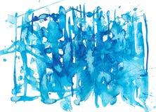 Acuarela azul stock de ilustración