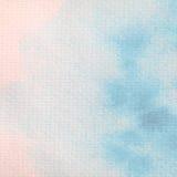 Acuarela azul abstracta pintada en el papel Fotos de archivo