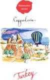 Acuarela Cappadocia Imagen de archivo libre de regalías
