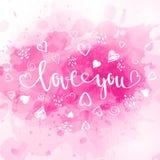 Acuarela día de San Valentín fotografía de archivo