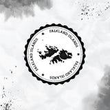 Acuarela de Falkland Islands Malvinas redonda ilustración del vector