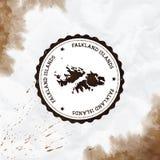 Acuarela de Falkland Islands Malvinas redonda libre illustration