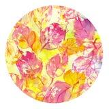 Acuarela de la caída de las hojas de otoño Fotografía de archivo libre de regalías
