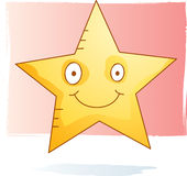 Acuarela de la estrella Foto de archivo libre de regalías