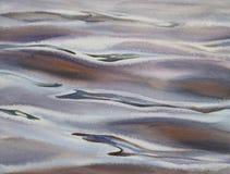 Acuarela de la sombra de la reflexión del agua imagenes de archivo