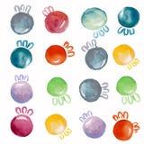 Acuarela de las bolas de la Navidad stock de ilustración