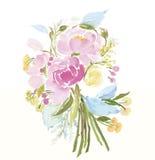 Acuarela de las flores Fotografía de archivo