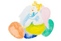 Acuarela del ángel de Pascua ilustración del vector